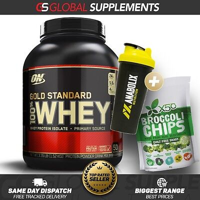 Optimum Nutrition 100% Whey Protein Gold Standard 3.3Lbs Pure Protein .