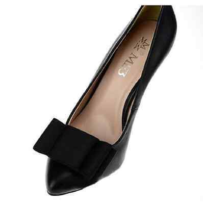A Pair Retro Style Black Plain Ribbon Bow Butterfly High Heel Shoe Clips