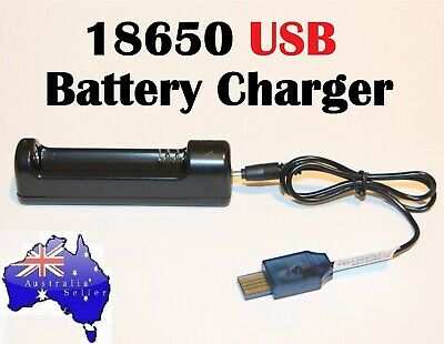USB 18650 Battery Charger for 3.7V Rechargeable Battery NEW Design Compact Small