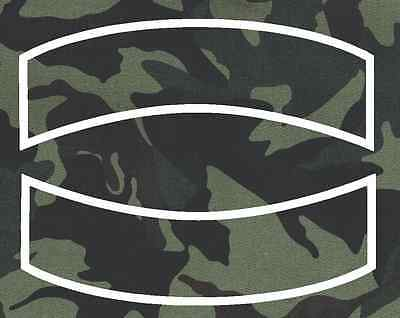 Custom Embroidered Motorcycle Straight Edge  Rocker Patch Camo 12 Inch