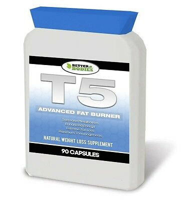 T5 Fat Burners Strong Diet Weight Loss Slimming Pills Fat Burner Tablets Bottle