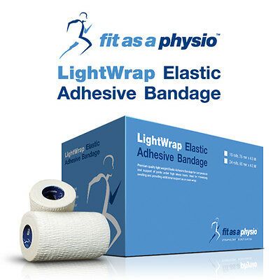 75mm Hand-Tearable Elastic Adhesive Bandage EAB Sports Strapping Tape   16 Rolls