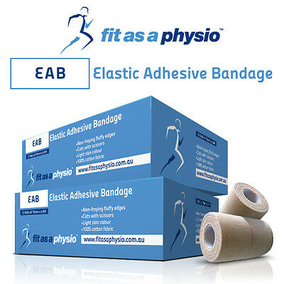 75mm Elastic Adhesive Bandage EAB Sports Strapping Tape | 12 Rolls