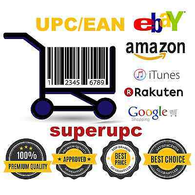 50,000 UPC EAN Codes Numbers Barcodes For Amazon Ebay Lifetime Guarantee