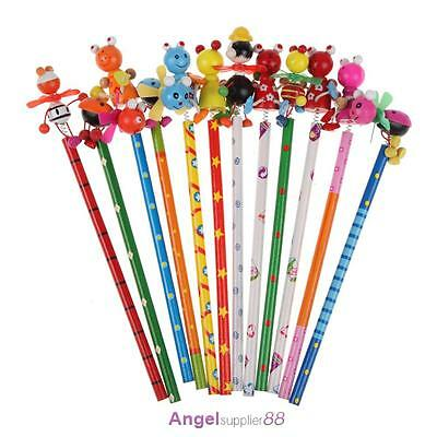 New Children's Creative Toy Wooden Windmill Pencil Animal Design Stationery Gift