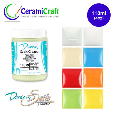 Duncan Satin Glaze 118ml, Ceramic, Pottery, Paint, Multiple Colours