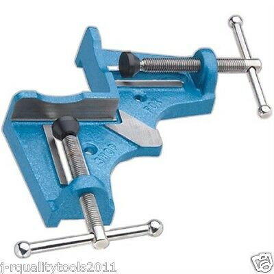 Small Cast Iron Wood Or Metal Corner Angle Miter Frame Vice Clamp Mitre Jig Vise