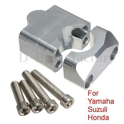 MOTORCYCLE HANDLE BAR RISER KIT FOR 28mm BAR CLAMPS - ALUMINIUM CNC FINISHED NEW