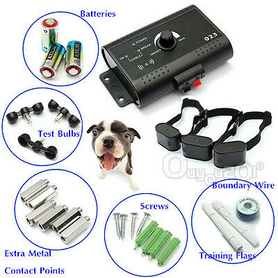 1/2/3 Dog Friendly Underground Waterproof Shock Collar Electric Dog Fence System