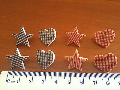 Heart of the Home Star Shaped Shank Buttons Checked Striped by Dress It Up 8313