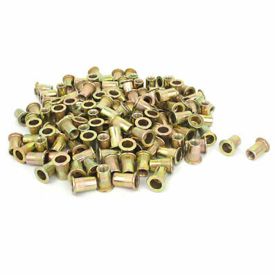 300 Pcs M6x15mm Knurled Body Blind Rivet Nut Threaded Insert Nutserts