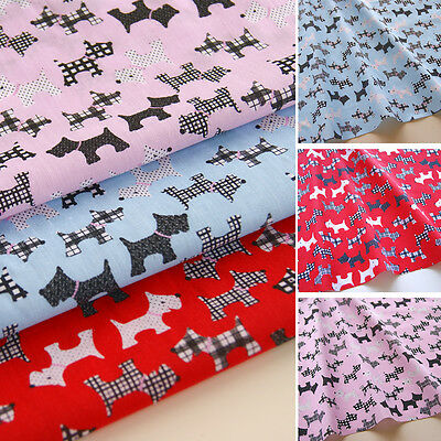 Scottie Dogs Fabric - Scottish Terrier - Polycotton - Westies Print