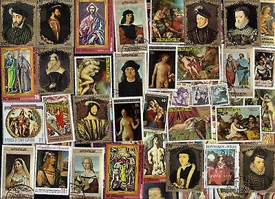 50 All Different Renaissance Art On Stamps