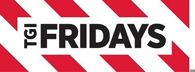 $50 / $100 TGI Fridays Physical Gift Card - Free Regular 1st Class Mail Delivery