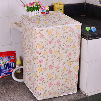 Waterproof Washing Machine Zippered Top Dust Cover Protection Durable Random SM