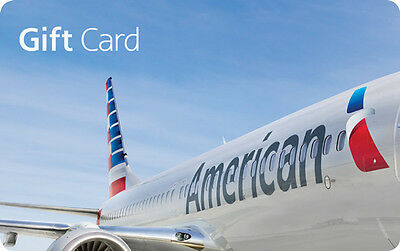 $100 American Airlines Physical Gift Card - FREE Regular 1st Class Mail Delivery