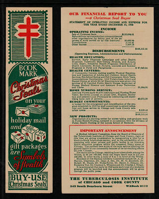 1939 Type 2 Christmas Seals Bookmark Green's Listed