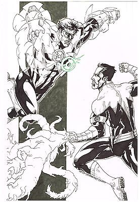 "Original comic art commission: ""GREEN LANTERN & SINESTRO"" by Nestor Celario!"