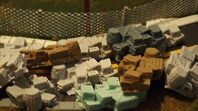 N-scale 12pc Unfinished Crates & Barrels 1:160 Model Train Detail