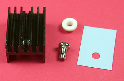 1-Pc  Black Heat Sink, Insulation, Bushing And Screw for TO-220