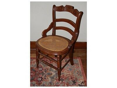 Antique Cane Seat Chairs Set Of 4