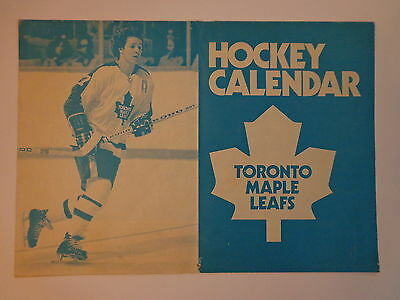 Toronto Maple Leafs Vintage Hockey Calendar All Pages 1975-1976 NHL NM