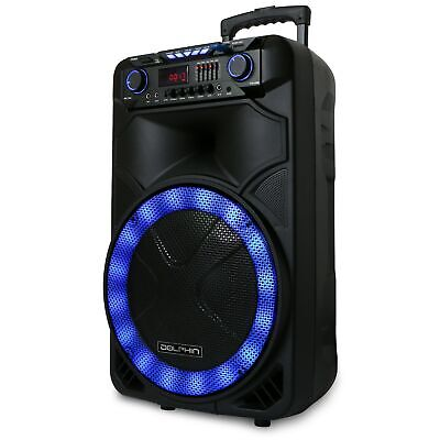 "Dolphin 2100W Rechargeable 15"" Bluetooth Tailgate Speaker with LED's SP-1500RBT"