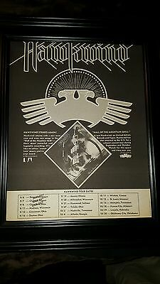 Hawkwind Hall Of The Mountain Grill Tour Rare Original Promo Poster Ad Framed!