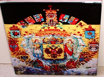 Russian Imperial Coat of Arms~ FLAG Russia CERAMIC wall TILE