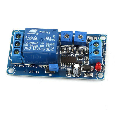 Microcontroller DC 12V 1-CH Cycle Timer Time Delay Power Relay Module