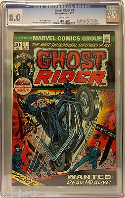 Ghost Rider 1 Cgc 8.0! First Appearance Of The Son Of Satan In Cameo!