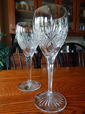 2 Waterford Crystal KELLEY Red Wine Goblets Glasses
