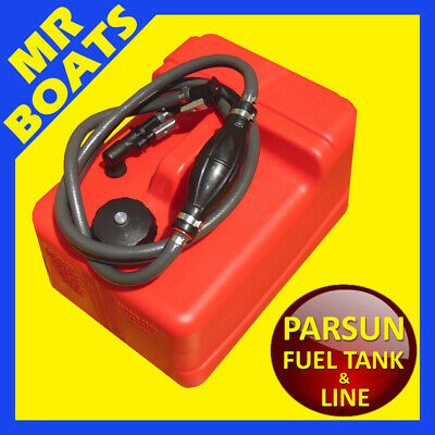 11.3 Litre OUTBOARD FUEL TANK ✱ PARSUN FUEL LINE ✱ Petrol Portable FREE POST NEW