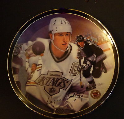 """Heroes On Ice The Great Gretzky Collectors 8"""" Porcelain Plate Limited #3504D COA"""