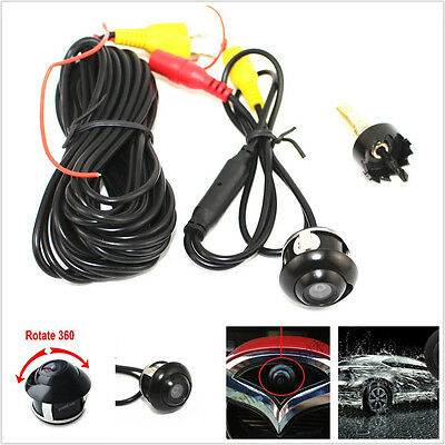 Wide Angle 360° Rotatable CCD Car Front/Rear Reversing Backup Parking Camera Kit