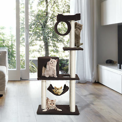 """55"""" Cat Tree Kitty Furniture Toys Condos Scratching Posts Cat House Pet Supply"""