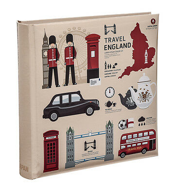 London Icons Design Travel Slip Case Memo Photo Album 6x4 for 200 photos-AL-9153