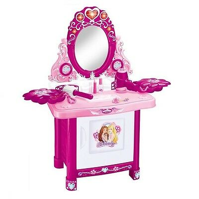 Girls Princess Mirror Dressing Table Pretend Role PlaySet Kids Makeup Game