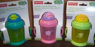 Fisher Price 2 Handle Cup w/ Flip Top Lid Animals of the Rainforest, Baby Shower