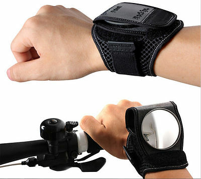 New Rear View Vision Wrist Guards Glove with Built-in Back Mirror Bike Cycling