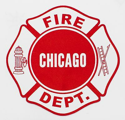 """Chicago Fire Department Decal Maltese 2"""""""