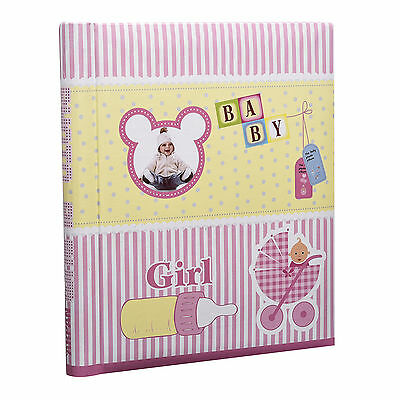Large Cute Baby Girl Self Adhesive Photo Album 20/Shee/40sides -Pink - AL-9163