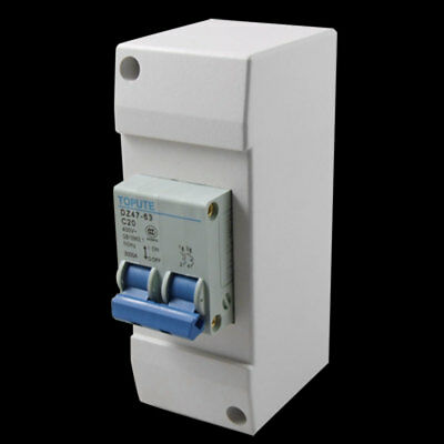 DZ47-63 C20 2P AC 400V 20A Protective On Off Switch Mini Circuit Breaker