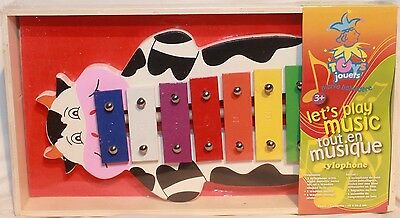 Xylophone COW in wood and eight metallic notes - Music educational functions NEW