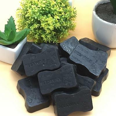 1oz Bar ORGANIC Cosmetic Grade Filtered Pure Black Beeswax *Army Boot Polish*