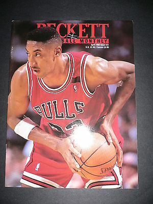 Beckett Basketball Monthly #21 Scottie Pippen & Mark Price Beckett Apr 1992