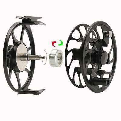 New CNC Machine Cut T6 Fly Fishing Reel for Rod Line Durable Drag System Black