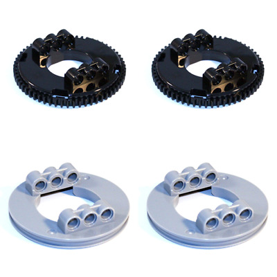 Lego Technic - Turntable Large Grey Black Studless Toothed 6109283 6109285 - NEW