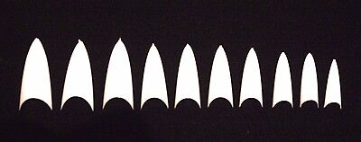 20 100 500 Stiletto Pointed Pointy Vampire False Nail Tips Fake Acrylic White