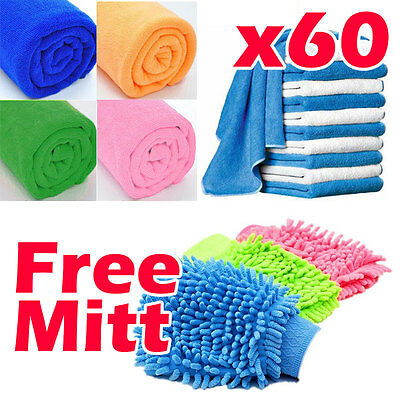 40x40cm Microfibre Cleaning Cloth Towel Car Valeting Polishing Duster HEAVY DUTY